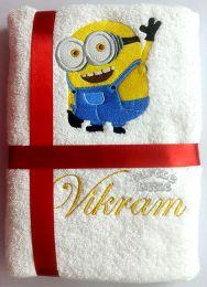Waving Minion Personalised Luxury Towel