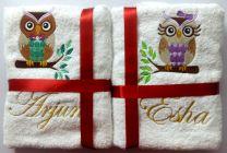 He & She Owl Couple Set