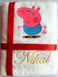 George, Peppa's Friend Personalised Luxury Towel