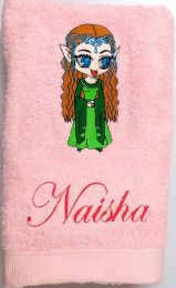 Baby Princess Arwin from Lord of the Rings Luxury Personalised Towel
