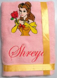 Princess Bell with Rose Personalised Luxury Towel