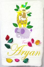 Animals Personalised Luxury Kids boys/girls Towel