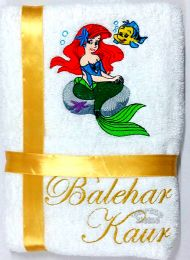 Ariel Mermaid Personalised Luxury Towel