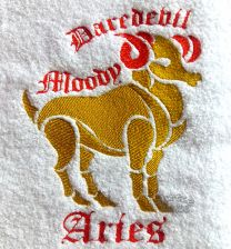 Aries Zodiac Personalised Luxury Towel