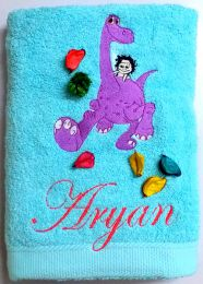 Arlo and Friend Dinosaur Personalised Luxury Towel