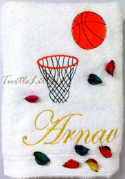 Basketball Personalised Luxury Towel