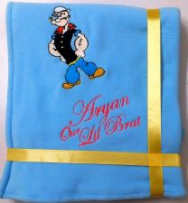 Popoye the Sailor Luxury Personalised Kids AC Blanket