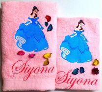 Princess Bell in Blue Personalised Luxury Towel