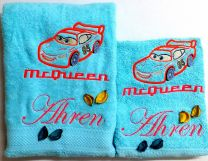 Cars Lightening McQueen Personalised Luxury Towel