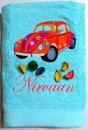 Red Beetle Personalised Luxury Towel