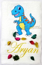Dinosaur Personalised Luxury Towel