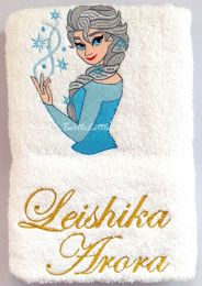 Princess Elsa Personalised Luxury Towel