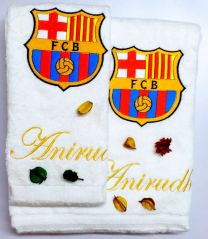 FCB Soccer Club Personalised Luxury Towel