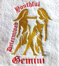 Gemini Zodiac Personalised Luxury Towel