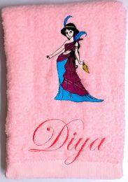 Princess Jasmine with Magic Lamp Personalised Luxury Towel