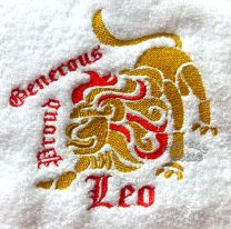 Leo Zodiac Personalised Luxury Towel