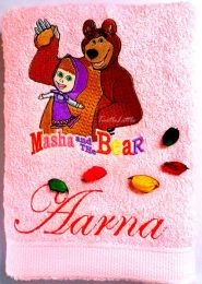 Masha and the Bear, Personalised Luxury Towel