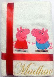 Peppa & George Personalised Luxury Towel