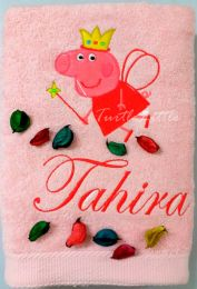 Peppa Fairy Personalised Luxury Towel