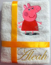 Peppa Personalised Luxury Towel