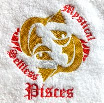 Pisces Zodiac Personalised Luxury Towel