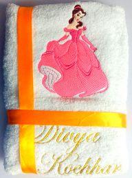 Princess Bell in Pink Personalised Luxury Towel