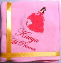 Princess Bell in Pink Luxury Personalised Kids AC Blanket