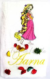 Princess Rapunzel Personalised Luxury Towel