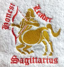 Sagittarius Zodiac Personalised Luxury Towel