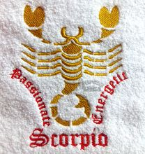 Scorpio Zodiac Personalised Luxury Towel