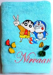 Doraemon & Shin Chan Personalised Luxury Towel