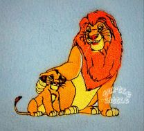 Lion King Dad Mufasa & Simba Luxury Personalised Kids AC Blanket