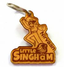 Little Singham Personalized Wooden Key Chain