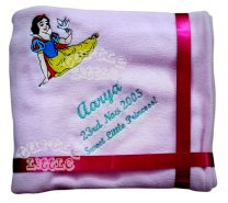 Snowhite with Bird Luxury Personalised Kids AC Blanket