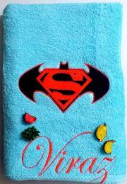 Superman Batman Logo Personalised Towel