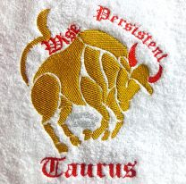 Taurus Zodiac Personalised Luxury Towel