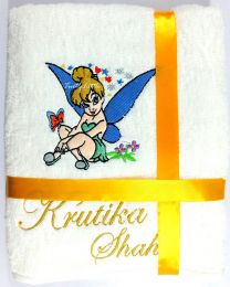 TinkerBell Fairy Personalised Luxury Towel