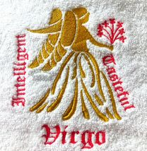 Virgo Zodiac Personalised Luxury Towel