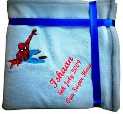 Spiderman Luxury Personalised Kids AC Blanket